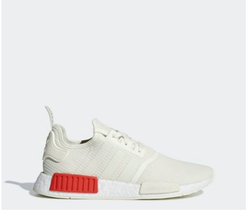 NMD R1 B37619 Weiß  rot, Unisex Athletic Sports Turnschuhe (US 4 - 11)