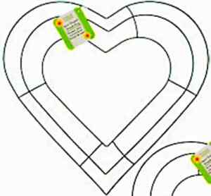 image is loading floral garden 12 inch wedding heart shaped wire