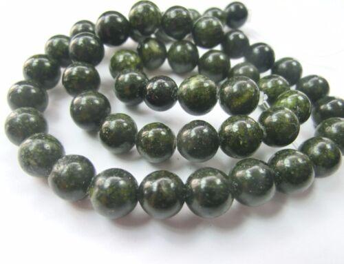 Verde jaspe 8mm perlas balas aproximadamente 1 Strang