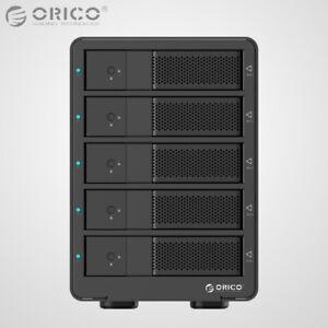 ORICO-Aluminum-5Bay-USB-3-0-3-5-034-Inch-SATA3-0-Hard-Drive-HDD-Enclosure-Array-Box
