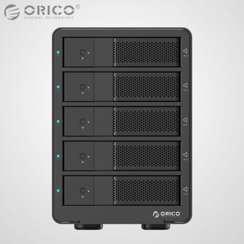 "1 of 1 - ORICO Aluminum 5Bay USB 3.0 3.5"" Inch SATA3.0 Hard Drive HDD Enclosure Array Box"