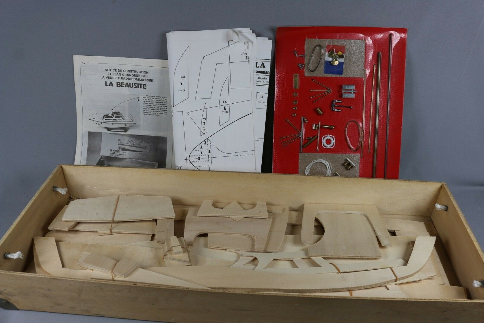 Zf1608 Emballaire Rc Boat Kit Balsa Wood La Beausite 700x220x280mm