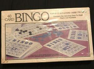 New-Vintage-40-Card-Bingo-Complete-Set-1981-Whitman-4709-Complete-Set-Easy-Read