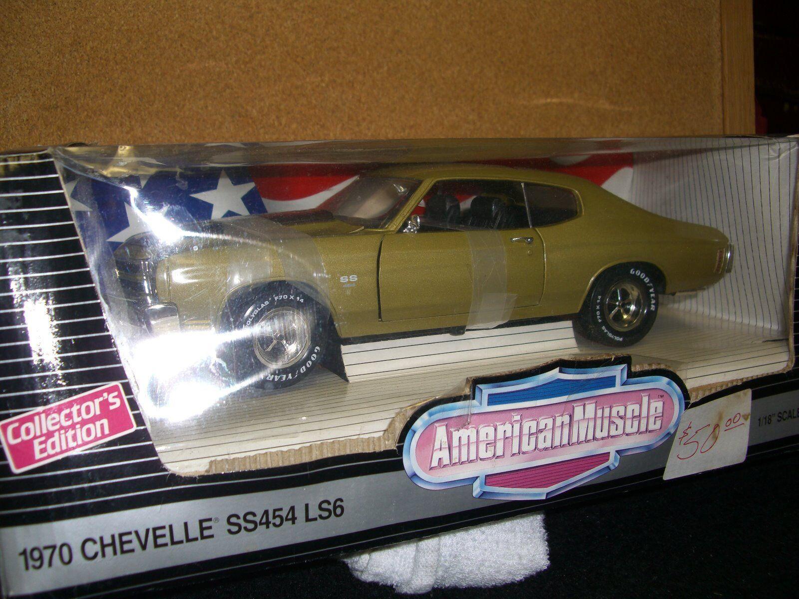 1 18 Chevelle 1997 Ertl 1970 SS454 LS6 en Dorado Champagne