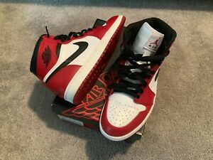 Nike-Air-Jordan-1-High-OG-Retro-Chicago-Bulls-Red-332550-163-Size-9-5