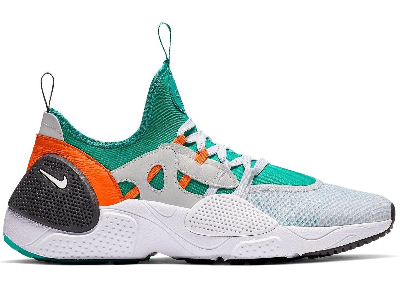 Mens Nike Huarache E.D.G.E TXT QS Weiß Clear Emerald Total Orange BQ5206-100