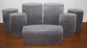 RCA-7-0-Speaker-Set-RTD300-Silver-Home-Theater-Surround-Sound-Center-Front-SAT