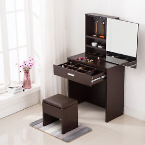 Image Is Loading Vanity Dressing Table Makeup Desk With Mirror Cabinet