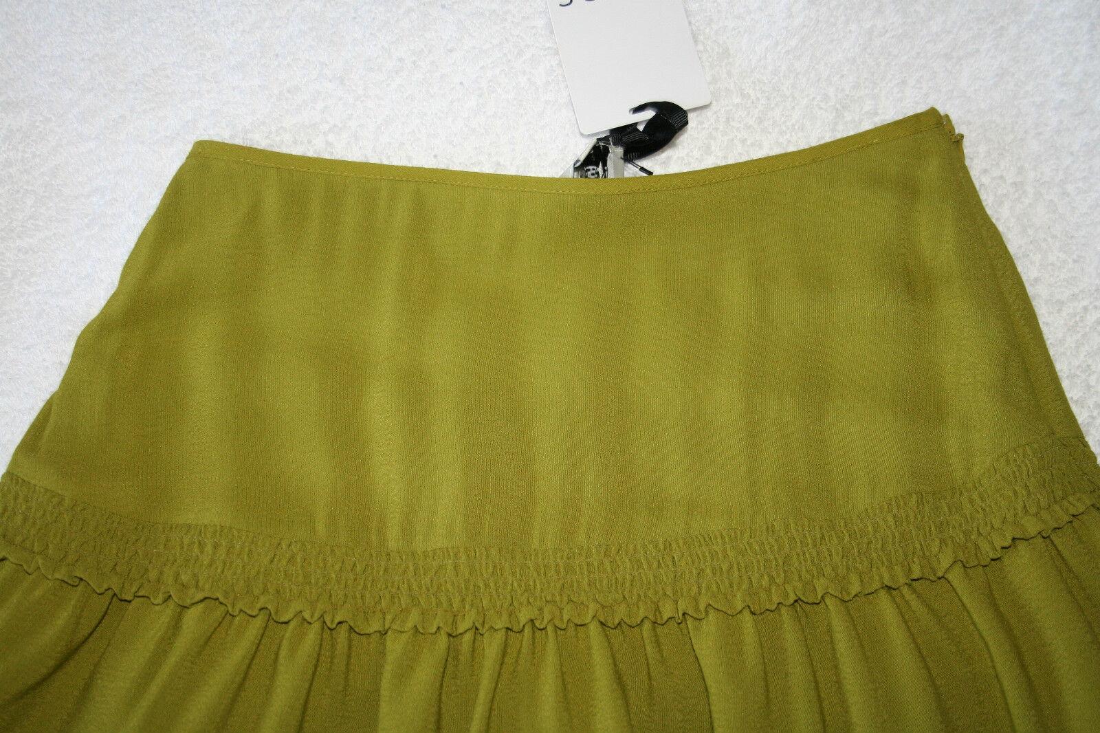 Reiss da donna verde Assenzio Assenzio Assenzio Increspatura Minigonna Taglia 4 NUOVO 4cb479