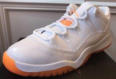 air jordan retro 11 orange and white