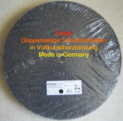 10 x doppelseitige Schleifscheiben 430 mm Korn 16 Vollkunstharzbindung