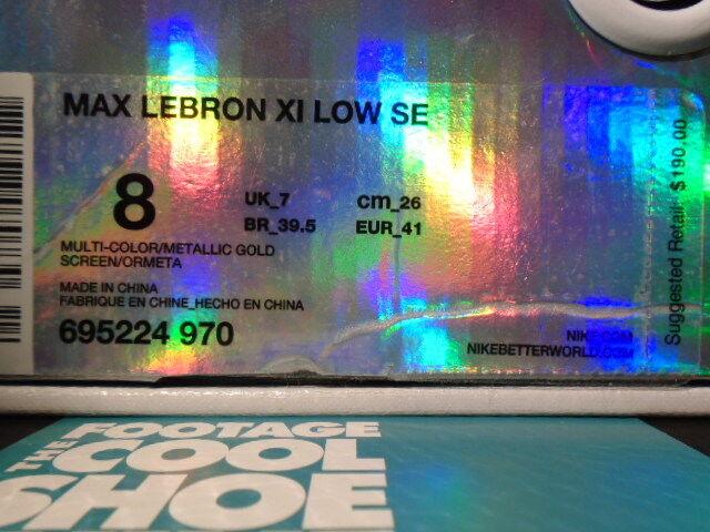 Nike Air Max LEBRON LEBRON LEBRON XI 11 LOW SE CHAMPIONSHIP PACK MULTI-colore rosso oro blu 8 78cf6c