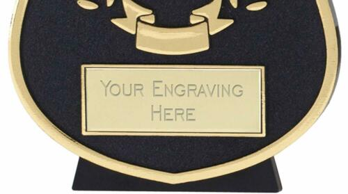 Emblems-Gifts Curve Gold Tennis Plaque Trophy With Free Engraving