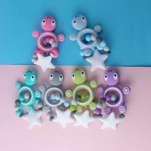 Silicone Baby Teether Molar Toy CuteTurtle Shape Teether Pendant Gift Safety Hot