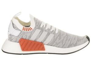 b9fd7e41ea9e2 Men s Adidas NMD R2 PK Primeknit White Black Running Trainers BY9410 ...