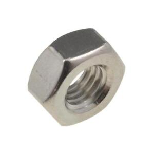 Qty 1 Left Hand Thread Nut M10 10mm Marine Stainless Steel Hex 316 A4 70 9350629032434 Ebay