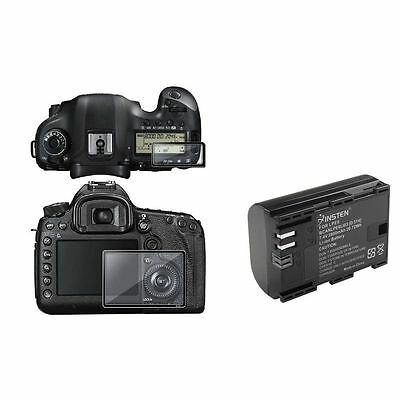 LP-E6 LPE6 Battery+2 Screen Pro Glass For Camera Canon EOS 5D Mark III New