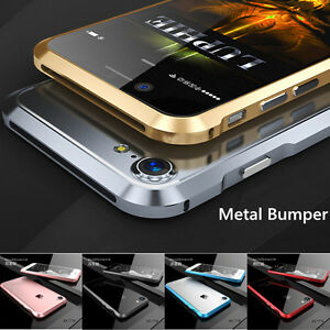 huge sale 0d37b 9c746 Details about Luxury Aluminum Metal Bumper Case Frame Cover For Apple  iPhone 6 6S 7 Plus 5S