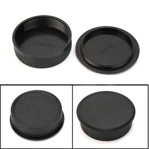2pcs-42mm-Plastic-Front-Rear-Cap-Cover-For-M42-Digital-Camera-Body-and-Lens-Pro