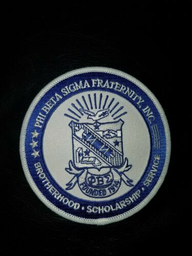 """Phi Beta Sigma Fraternity Seal Patch 4/"""" Brand New"""