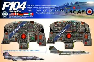 F104 STARFIGHTER RCAF & LUFTWAFFE  instrument panel CDkit