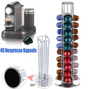 40-Capsule-Revolving-Rotating-Coffee-Pod-Holder-Tower-Stand-Rack-For-Nespresso