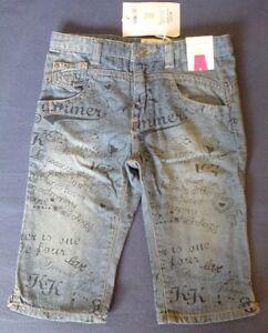 Prenatal-Jeanshose-Gr-95-101-Gr-98-3-Jahre-knielange-Caprihose-Hose-Shorts