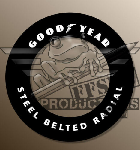 "FFSMC Productions 1//18 Decals Goodyear /""Steel Belted Radial/"" x35"