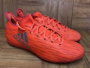 RARE-Adidas-163-Turf-Soccer-Indoor-Soccer-Cleats-Shoes-Solar-Orange-Sz-10-5