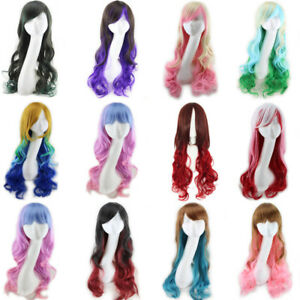 Women-Long-Curly-Wavy-Full-Wig-Heat-Resistant-Hair-Cosplay-Party-Curly-NIUK