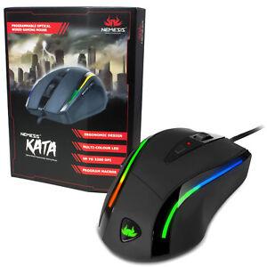 Sumvision-Nemesis-Kata-LED-Cable-Programmable-Jeu-Souris-Personnalise-Macro-amp-We