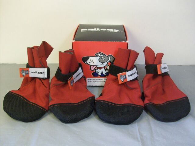 Saltsox Dog Boots Weatherproof Urban Booties Size XL Ice Fire Red New  2014