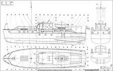 MISTRAL F2A Motorjacht. Modellbauplan