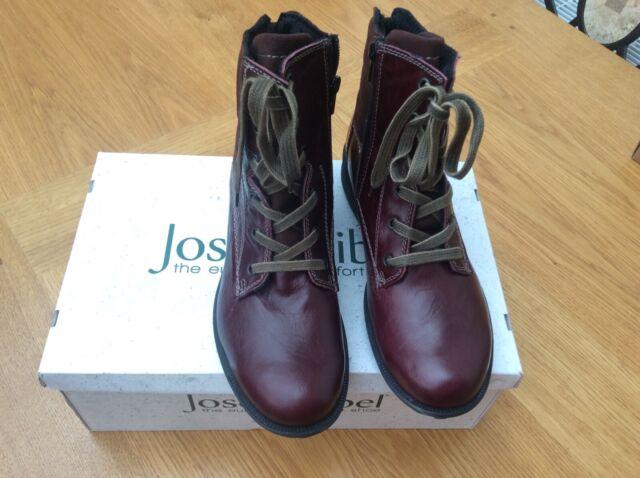 Josef Seibel Sandra 64 Womens Casual Boots. Burgundy. Size 6 UKEU 39. BNIB.