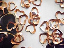72 PC LOT Vintage Coppercoated 8mm Open Heart Findings