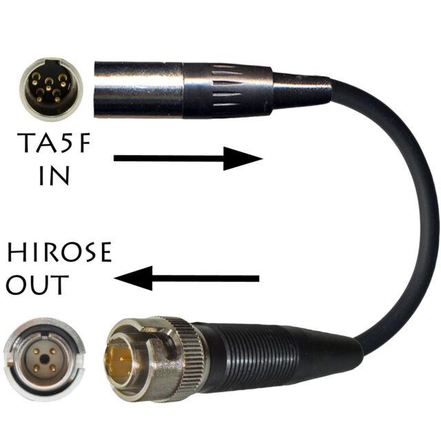 LECTROSONICS MICROPHONE ADAPTER TA5M to SONY WRT UTX 4 PIN HIROSE TRANSMITTERS