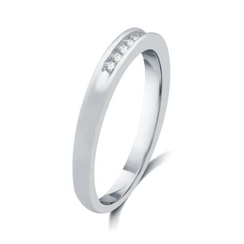 DeCarat 1//7 CT.T.W Diamond Sterling Silver Vintage Style Wedding Band