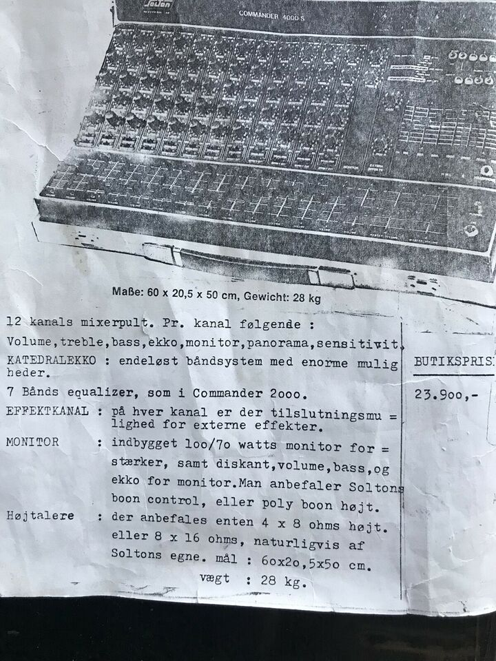 Vintage Powermixer, SoIton Commander 4000 S