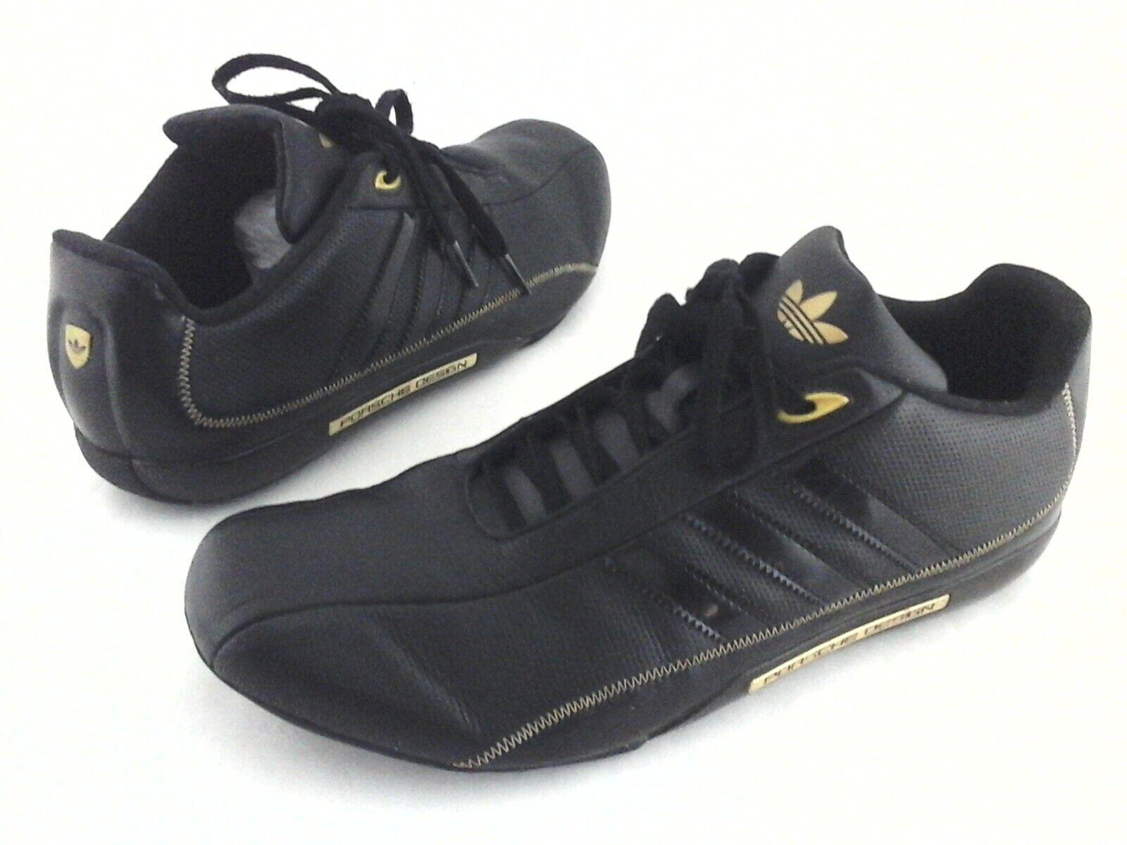 Adidas PORSCHE 2007 Conducción Zapatos Negro W DESIGN oro 024570 para Hombre US 9  3