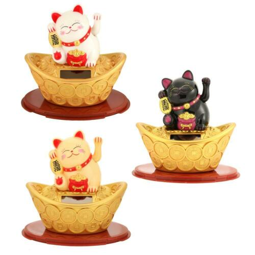 Lucky Cat Wealth Waving Hand Fortune Welcome Craft Shop Hotel Decor #UK