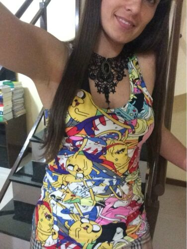 Light Montage Adventure Time Camisole//Tank Top BNWT UK Seller Sizes 6 to 14