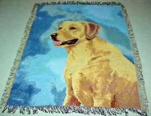 Black Poodle Tapestry Afghan Throw ~ Linda Picken