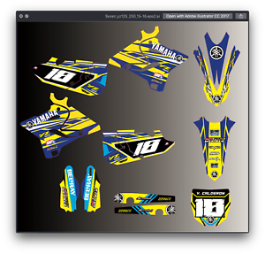 Fits Yamaha Yz 125 250 Mx Motocross 2015 2016 2017 2018 2019 2020 Graphic Kit Ebay