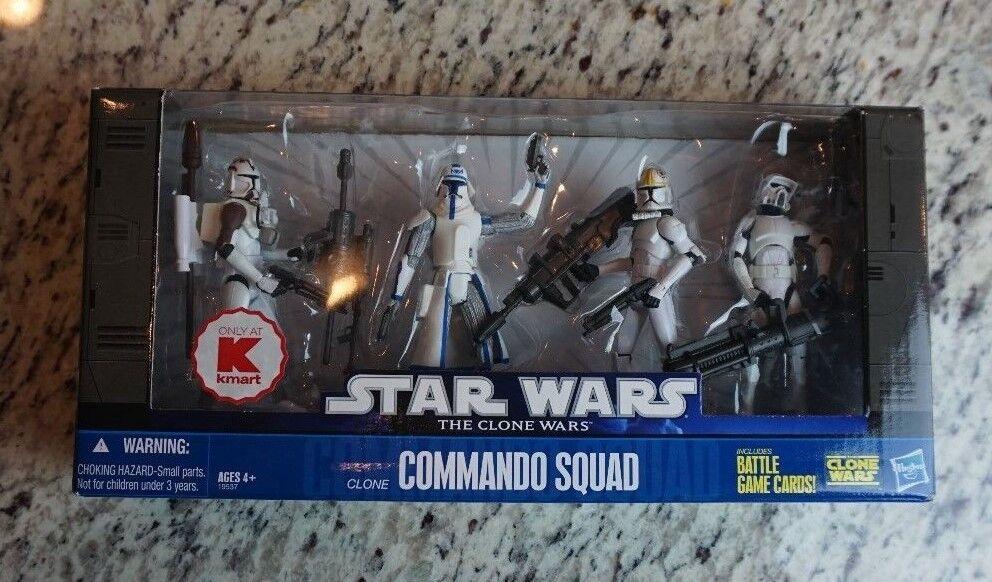 Clone Comuomodo Squad BATTLE Pack estrella WARRS The Clone guerras TCW K-Mart ExcL