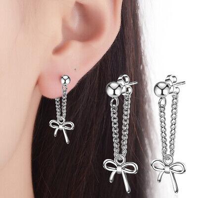 Womens Earrings Tassel Dangle 925 Silver Drop Stud Fashion Jewellery Ear Gift
