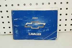 2002-Chevrolet-Cavalier-Owners-Manual-FREE-SHIPPING
