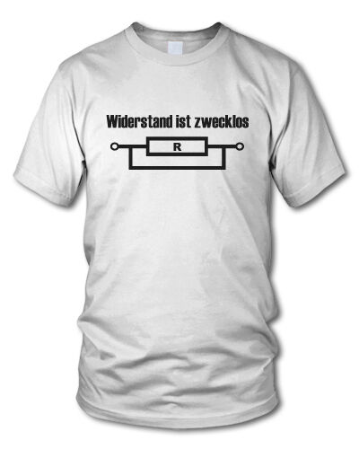 Toute résistance est inutile-style nerd t-shirt-Funshirt-geek différentes couleurs-s-xxl
