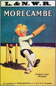 Vintage LMS Morecambe Railway Poster  A3 Print