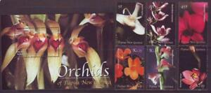 PAPUA-NEW-GUINEA-2002-ORCHIDS-SET-6-MINISHEET-MINT-NEVERHINGED