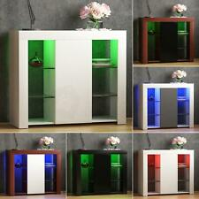 Azura LED Sideboard 1 Door Large Buffet Storage Cupboard Cabinet High Gloss